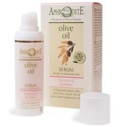 Натуральная увлажняющая сыворотка Афродита оливковая