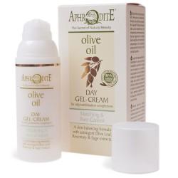 Натуральный дневной крем-гель для лица Афродита оливковый