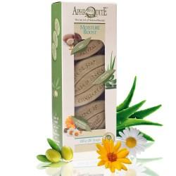 Подарок  3 мыла AphrOditE®: Увлажнение. Арган, Алоэ, Ромашка и Календула