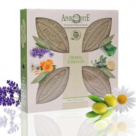"""""""Растительные эссенции"""" - подарочный набор Aphrodite®, 4 мыла"""