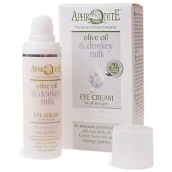 Натуральный крем для кожи вокруг глаз Афродита с оливковым маслои и молоком ослицы