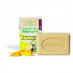 Оливкове мило  з ромашкою та календулою Aphrodite®, натуральне 100 г - Фото№ 10