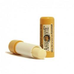 Оливковый бальзам для губ со вкусом кокоса Aphrodite®, натуральный, 4 г - Фото№ 4