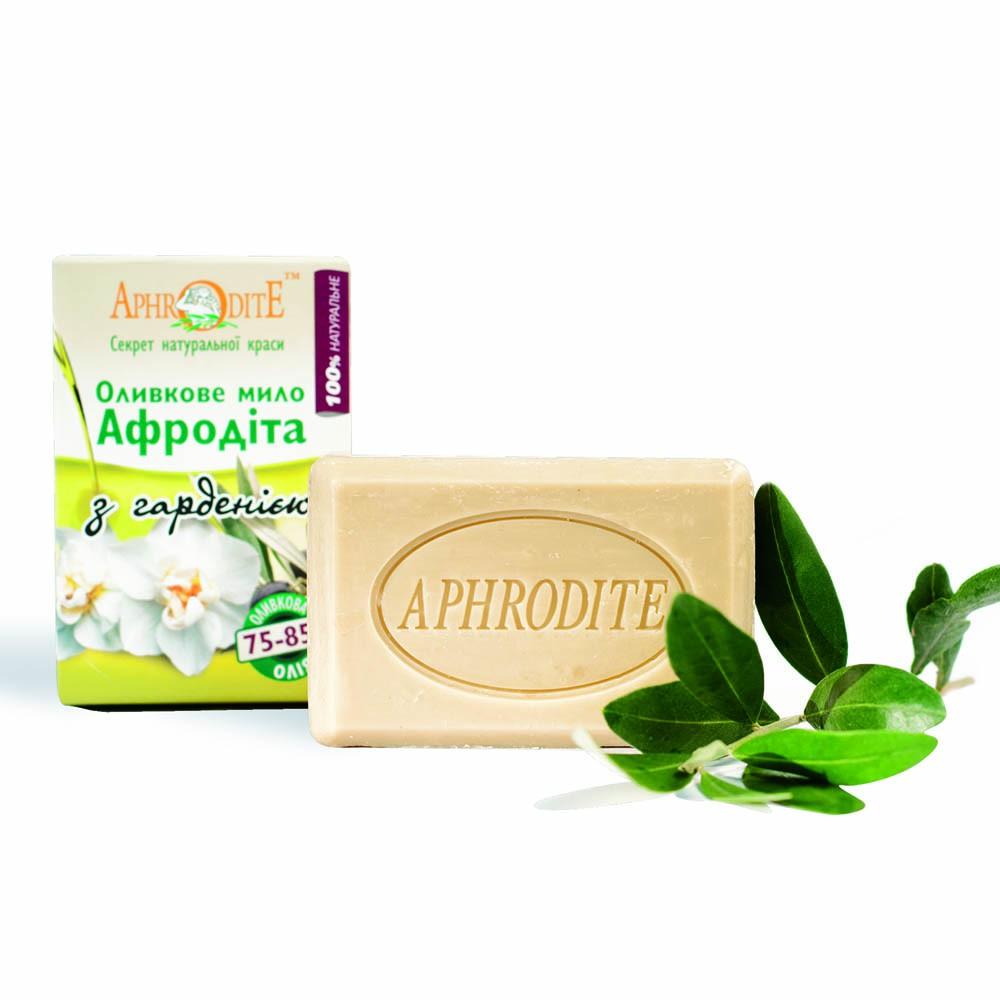 Оливковое мыло Афродита с гарденией,125 гр