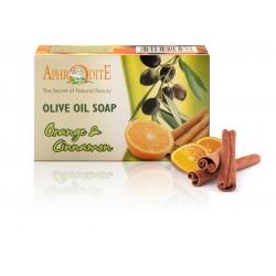 Оливковое мыло Афродита с апельсином и корицей