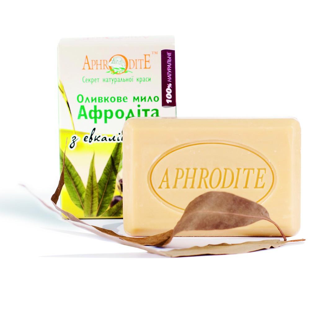 Оливкове мило з евкаліптом Aphrodite®, натуральне, 125 г - Фото№ 1
