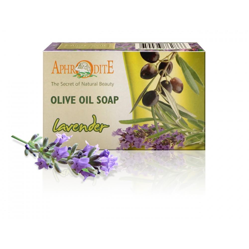 Натуральное оливковое мыло Афродита с лавандой