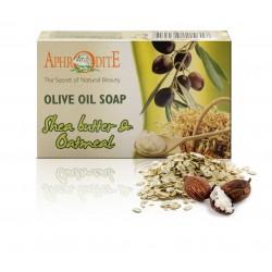 Натуральное оливковое мыло AphrOditE ТМ с маслом Ши и овсянкой, 100