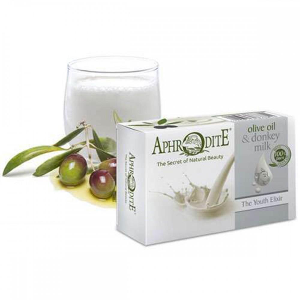 Оливкове мило з ослиним молоком Aphrodite®, натуральне, 100 гр - Фото№ 1