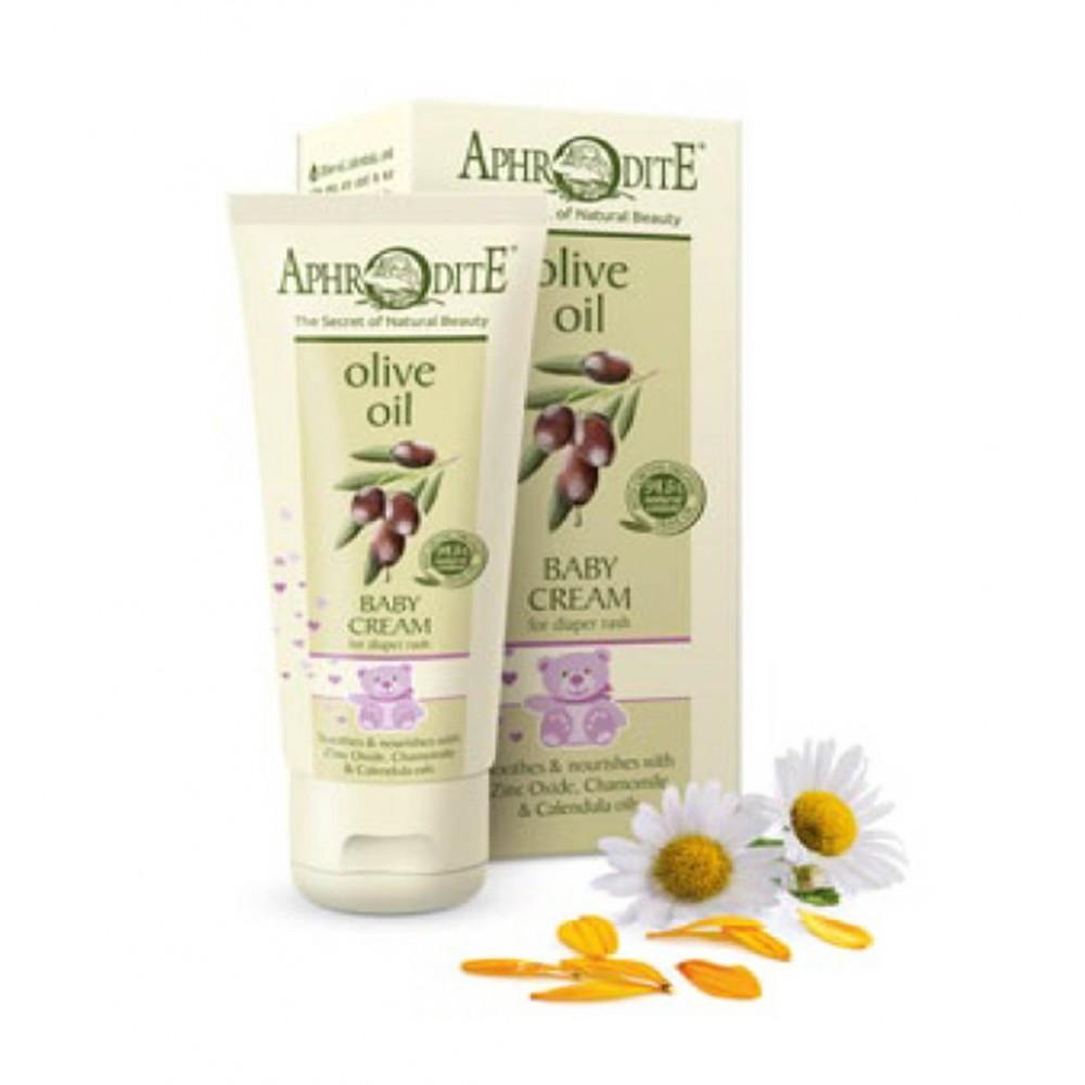 Натуральный детский крем Афродита оливковый