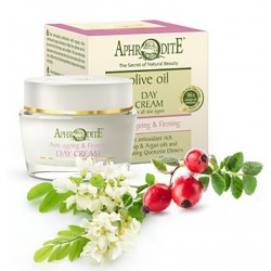 Натуральный анти-возрастной крем для лица Афродита оливковый