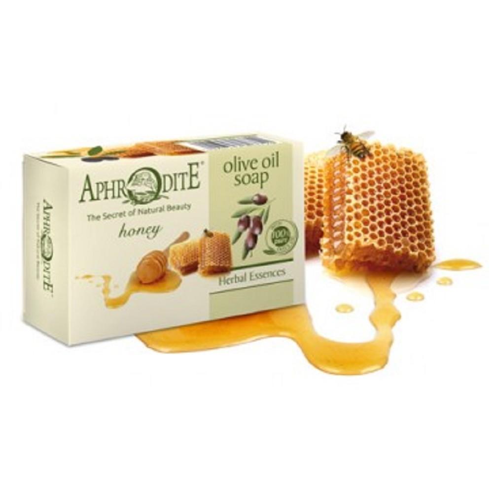 Оливкове мило з медом Aphrodite®, натуральне, 100 г - Фото№ 1