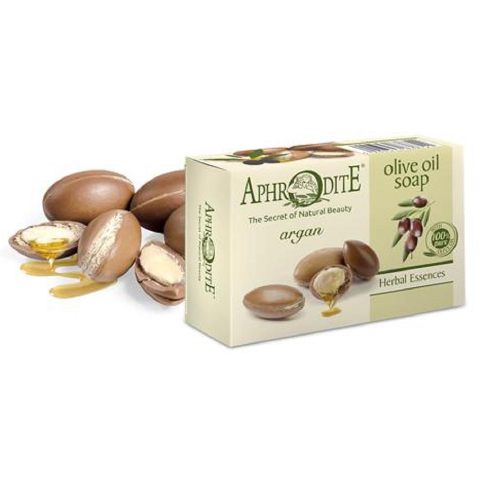 Оливкове мило з аргановою олією Aphrodite®, натуральне, 100 г - Фото№ 1