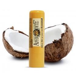 Оливковый бальзам для губ со вкусом кокоса Aphrodite®, натуральный, 4 г - Фото№ 2