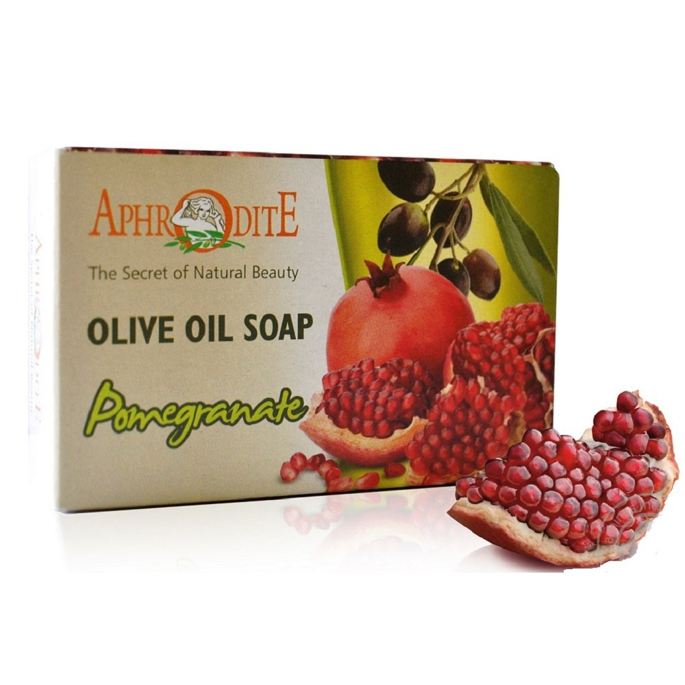 Оливковое мыло с экстрактом граната Aphrodite®, натуральное, 100 г - Фото№ 1