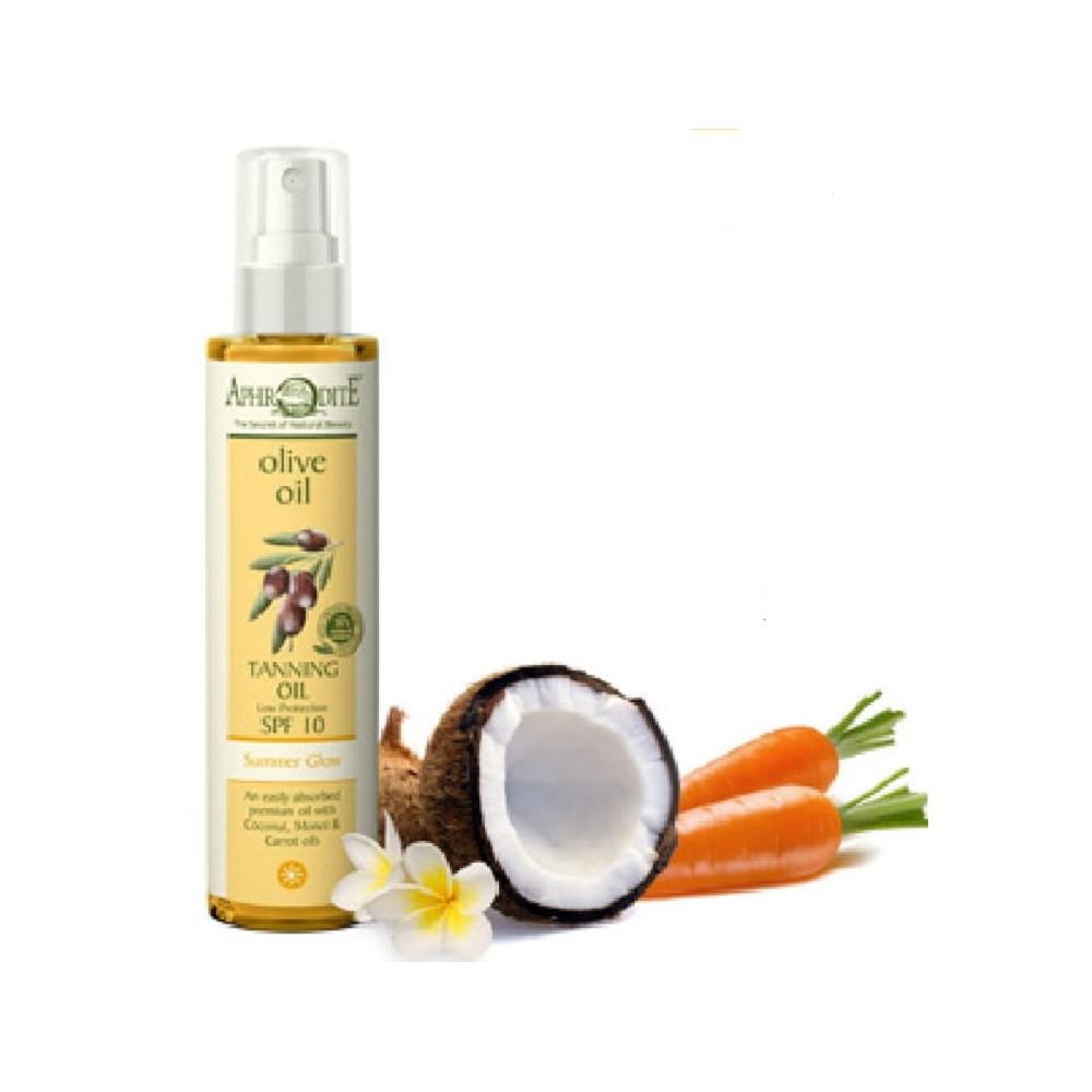 Масло для загара  SPF 10 AphrOditE®, натуральное, 100 мл. - Фото№ 1