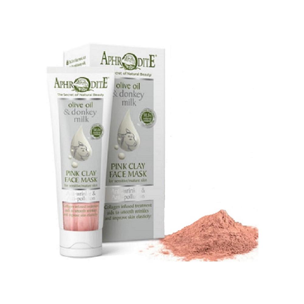 Маска для обличчя з рожевою омолоджуюча і очищаюча глиною AphrOditE®, натуральна, 75 мл. - Фото№ 1