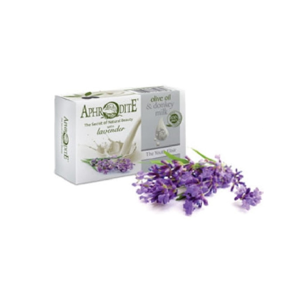 Оливковое мыло с Лавандой и молоком ослиц Aphrodite®, натуральное, 85 г. - Фото№ 1