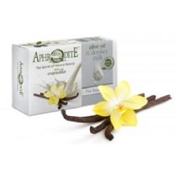 Оливкове мило з Ваніллю та молоком ослиць Aphrodite®, натуральне, 85 г. - Фото№ 4