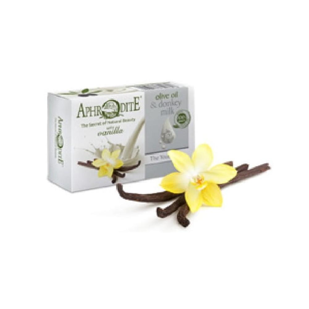 Оливкове мило з Ваніллю та молоком ослиць Aphrodite®, натуральне, 85 г. - Фото№ 1