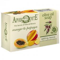 Оливковое мыло с манго и папайей Aphrodite®, натуральное, 100 г - Фото№ 6