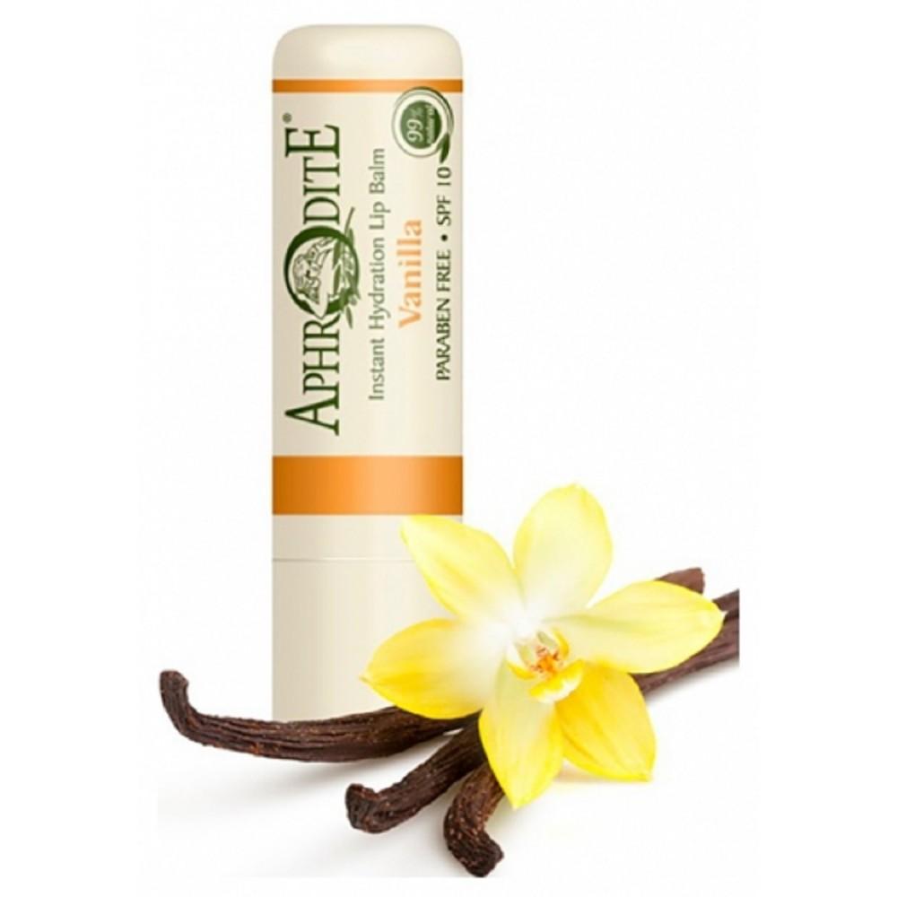 Оливковий бальзам для губ зі смаком ванілі Aphrodite®, натуральний, 4 г - Фото№ 1