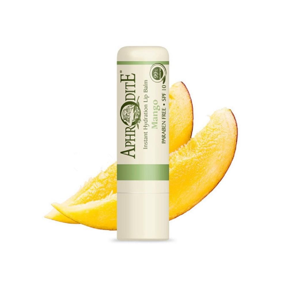 Оливковий бальзам для губ зі смаком манго Aphrodite®, натуральний, 4 г - Фото№ 1