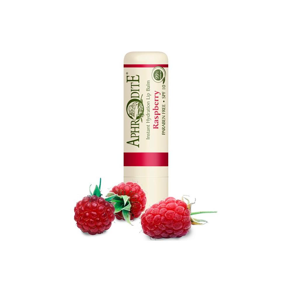 Оливковый бальзам для губ со вкусом малины Aphrodite®, натуральный, 4 г - Фото№ 1