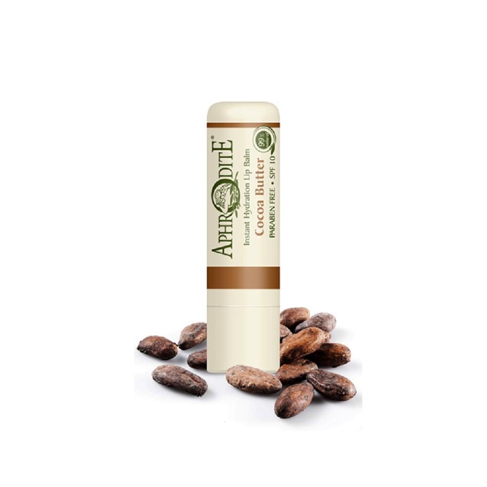 Оливковий бальзам для губ зі смаком какао Aphrodite®, натуральний, 4 г - Фото№ 1