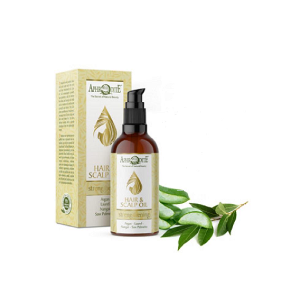 Зміцнювальна і поживна олія для волосся та шкіри голови AphrOditE®, натуральне, 100 мл. - Фото№ 1