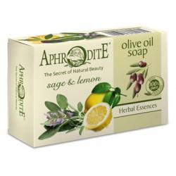 Оливковое мыло с маслом лимона и шалфея AphrOditE®, натуральное, 100 г - Фото№ 6