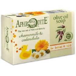 Оливкове мило  з ромашкою та календулою Aphrodite®, натуральне 100 г - Фото№ 6
