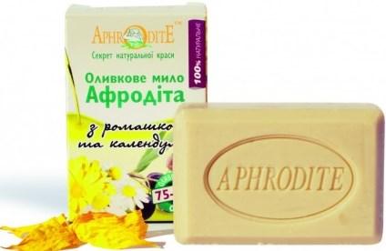 Оливковое мыло Афродита с ромашкой и календулой